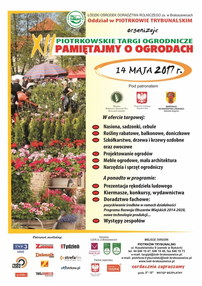 14 maja zapraszamy na Stoisko Edukacyjne na Piotrkowskich Targach Ogrodniczych