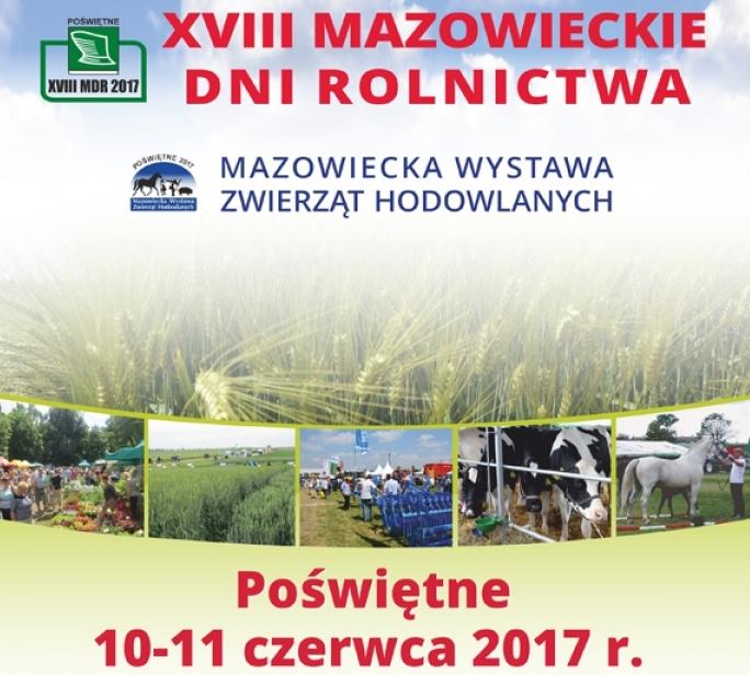 10-11 czerwca zapraszamy na Stoisko Edukacyjnena Mazowieckich Dniach Rolnictwa.